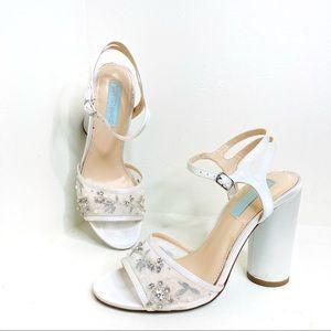 Betsey Johnson Lana Chunky Heel Ankle Strap Sandal